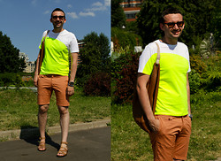 Igor_brighttoflight Kyky - Prada T Shirt, Patrizia Pepe Shorts, Givenchy Sandals - My city «beach-panama» look in the Gorky Park