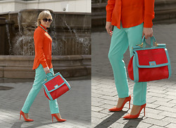 Bright Flight - Sportmax Shirt, Dolce & Gabbana Bag, Libellulas Trousers, Giamrito Rossi Shoes, Asos Necklace - The exhibition at the British Higher School of Art and Desig