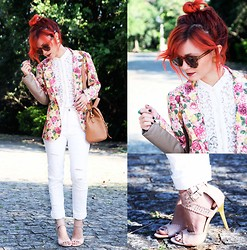 Pollie Ferraz - Diy Jeans, Asos Bag, Bohemianbones Blazer, Bohemian Bones Blouse - You'll Find a Way!!!!