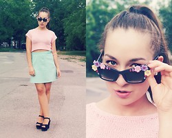 Becca S. - Diy Floral Sunglasses - Cheers darlin' here's to you and your lover