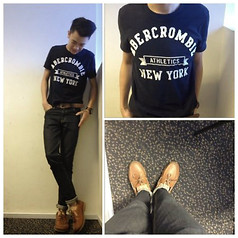ZAAC T - Abercromie Tee, Rockport Boat Shoes, Cheap Monday Jeans, Fossil Watch - Why won't you go?