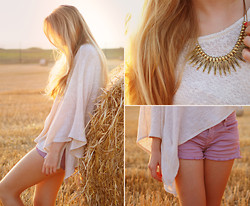 TIPHAINE MARIE - Zara Top, Jiglys Necklace, Zara Lavender Shorts - ANOTHER SUNSET (+SHOES GIVEAWAY)