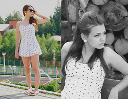 Alice Lovett - Topshop Romper, Topshop Sunnies, Topshop Earrings, Who Knows? Flip Flops - Naughty 1959