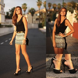 Marianela Yanes - Calvin Klein Blouse, Stradivarius Skirt - Night look
