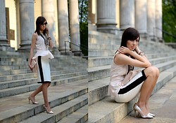 Caroline G - Mohito Blouse, Mango Skirt, Stradivarius Heels, H&M Clutch - All or nothing