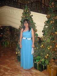 Vanessa Vidal - Karimadon Long Dress, Karimadon White Belt, Aldo Silver Clutch - 2 Years Ago, I Was Blue Elegant