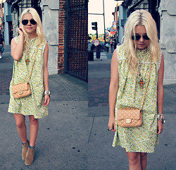 Hannah Riley - Gift From A Friend Dress, Asos Boots, Ray Ban Sunnies - Broadway in Nashville