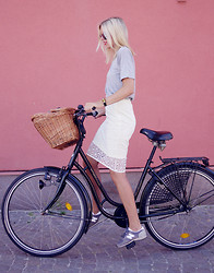 Hanna S - H&M Skirt, New Balance Sneakers - BICYCLE