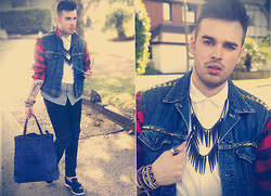 Chad Monroe - The Ragged Priest Jacket, Zara Bag, Topman Loafers, Topman Necklace, H&M Shirt - The Ragged Priest Jacket