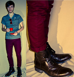 Zac W. - H&M Chino, Kenneth Cole Boots, Shirt - Safe Word