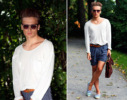 Dennis M. - Acne Studios Sweater, Vintage Belt, Carin Wester Shorts, Asos Sunglasses, Espadrillosofsweden.Se Espadrillos, Dmretro.Se Bag - You've got the love