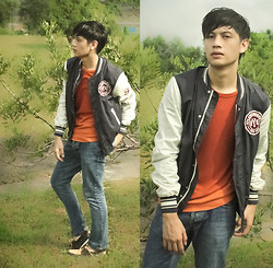Lui C. - Uniqlo Waffle Shirt, H&M Varsity Jacket, Topman Classic Button Up Jeans, Sebago Boat Shoes - The Great Outdoors