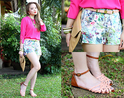 Stephanie D - Romwe Pink Top, Ichigo Shoes Angie Flats, Pinkaholic Necklace & Bangles - Hello Angie