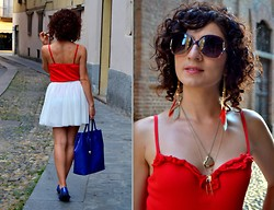 Sevgi O. - Furla Leather Bag, Yamamay Frilled Top, Marc By Jacobs Wishbone And Heart - Love hurts but sometimes it is a good hurt