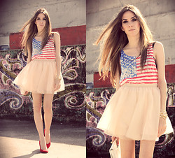 Flávia Desgranges van der Linden - Chic Wish T Shirt, Minusey Skirt - Stars and stripes