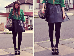 Anna S. - Love Shirt, Topshop Skirt, Accessorize Bag, Topshop Wedges - Stronger than me