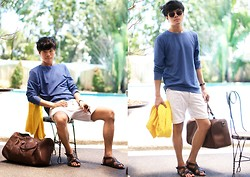 Ace Dela Pena - Topman Sweater, Cotton On Shorts, Zara Sandals, Zara Baggage, Zara Sunnies - What i did last summer