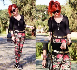 Pollie Ferraz - Bohemian Bones Pants, Vintage Belt, Topshop Top - Painted on my Heart!