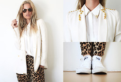 Anne Britt - Zara Customized Blazer, Zara Leopard Pants, Converse White Shoes - I guess I'm just a stubborn kinda girl.