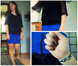 Anna M - H&M Skirt, Zara Top, Pilgrim Necklace, Pilgrim Bracelet, Diy Nailpolish - All that glitter is not gold