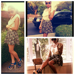 Jonabelle Torralba - Forever 21 Top, H&M Skirt, Shoes, Bag, Aldo Sunnies - You are the icing to my cake!
