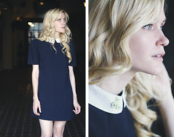 Catherine P - Daisy Detailing, Dahlia Shift Dress - Belle de Jour