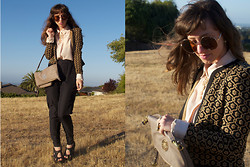 Jackie Groffman - Frenchi Cardigan, Free People Silk Pants, Mulberry Bag, Miss Sixty Shoes - ❀ Hit Me With THA CHING CHING ❀