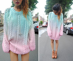 Kavita D - Youwearfashion Diy Studded Chnky Oversized Knitted Jumper, Jeffrey Campbell Litas - Mystic