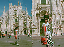 Santiago Artemis - H&M T Shirt, H&M Pants, American Apparel Bag, Demonia Creepers - SWAG IN MILAN