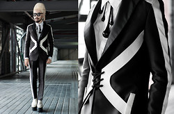 Andre Judd - Avel Bacudio Bespoke Suit And Trousers, Diy Black Glass Pendants, Avel Bacudio Harness Detailing - MY HEART GOES TO MANILA
