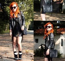 Pollie Ferraz - Diy Tee, Chanel Bag, Thrifted Skirt, Ebay Shoes - Spider Web!