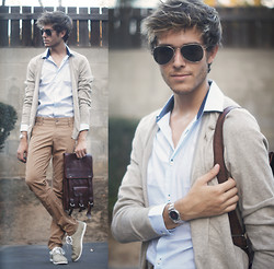 Adam Gallagher - H&M Shirt, H&M Cardi, Viparo Bag - Muted