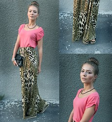 Viktoria Vyshnykova - Next T Shirt, Skhouse Skirt - Jungle Mystery
