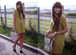 Nathalie S. - H&M Trend Dress, Topshop Bag, Cat Flats, Michael Kors Watch, Ring - Up in the air