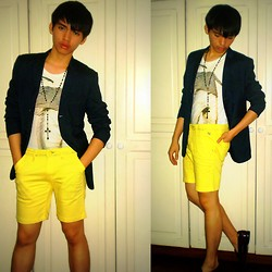 Glenn Torres - Regatta Yellow Shorts, Bass Patent Leather Shoes - I Miss The Sun