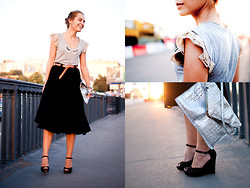 Pol A - Uterque Belt, Zara Skirt, Uterque Bag - EVENING SUN