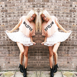 Penelope Sarah - Jeffrey Campbell Litas, Topshop Skirt, Wildfox Couture Tee - WILDFOX TAKE 10