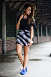 Laureen Uy - Topshop Top, Cotton On Skirt, Anna Sui Shoes - Laid Back (BMS)