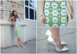 Lina Linadelika - Beta Skirt, Topshop Top, Michael Kors Watches - Dragonflies
