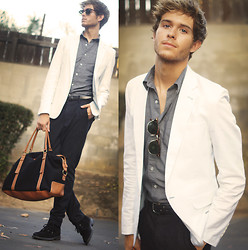 Adam Gallagher - Jogunshop Blazer, Topman Trousers, River Island Bag - Softglow