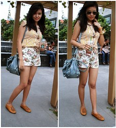 Alex Alfonso -  - Mustard Top with Floral Shorts <3