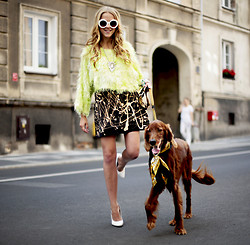 Jessica Mercedes Kirschner - Vintage, Nelly Shoes, Vintage, Prada Sunnies - FASHIONABLE DOG