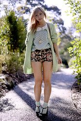 Jiawa Liu - Paisley Shorts, Socks, Felt Top - All warm and fuzzy