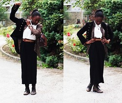 Olutosin K - Black Maxi Skirt, River Island Boots, M&S Sleeveless Shirt, Button   Up Shirt, Primark Jacket - Easy breezy on a Sunday