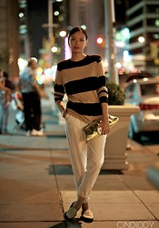Cindiddy .com - American Apparel Sweater, American Apparel Pants, Vintage Clutch, Opening Ceremony Loafer - ANOTHER HOUR ANOTHER LOOK