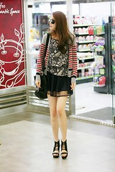 Jacco Fashion - Toto Novel Horizontal Striped Long Sleeves Knit Short Cardigans 2 Colors - Preppy Style Cardigan...Love!