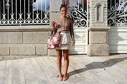 Leonor Castro - H&M Skirt, Longchamp Bag - Pink crystal