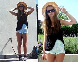 Laura A. - Monki Hat, Monki Shorts, Vans Slip On's - Why should(n't) we?