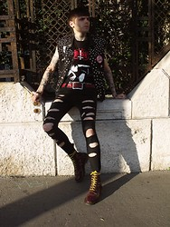 "Post-Puŋk L0v3R - Levi's® Diy Studded+Patched Levis Denim Vest, Marduk Band T Shirt, Denim Co Diy Jeans, Dr. Martens Dr Boots ""More Than 10 Years Old"" - When The DIY The Punk & The Black-Metal Meeting"