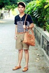 Ersa Adiprasetya - Mayonette Satchel, Adorable Project Indonesia Loafers - Simple Stripes